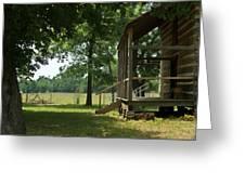 Settlers Cabin Arkansas 2 Greeting Card by Douglas Barnett