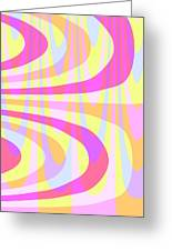 Seventies Swirls Greeting Card by Louisa Knight
