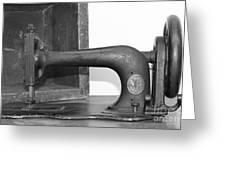 Sewing Machine Greeting Card by Pamela Walrath