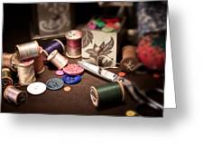 Sewing Notions I Greeting Card by Tom Mc Nemar