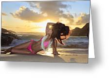 Sexy Woman At Eternity Beach Greeting Card by Tomas del Amo - Printscapes