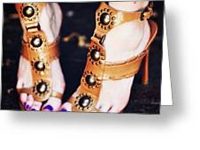 #sexyfeet #feets #sexy #shoes #zapatos Greeting Card by José Herreros ♦®