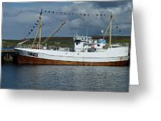 SF-5-NV visiting Shetland Greeting Card by George Leask