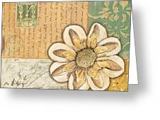 Shabby Chic Floral 2 Greeting Card by Debbie DeWitt
