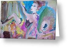 Shabby Chic The Dancer Greeting Card by Judith Desrosiers
