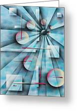 Shades Of Fibonacci Greeting Card by Hakon Soreide
