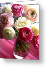 Shades Of Pink Greeting Card by Kathy Yates