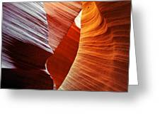 Shades Of Red - Antelope Canyon Az Greeting Card by Christine Till