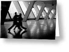 Shadow Tango Greeting Card by Lian Wang