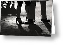 Shadows Of Tango Greeting Card by Leslie Leda