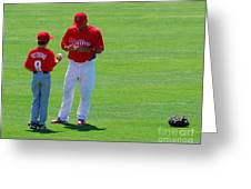 Shane Victorino  Greeting Card by Carol Christopher