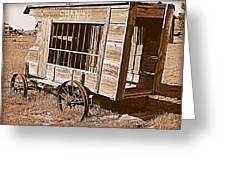Shaniko Paddy Wagon Greeting Card by Cindy Wright
