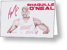 Shaquille O'neal Greeting Card by Toni Jaso