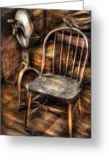 Sharpener - Grinder And A Chair Greeting Card by Mike Savad