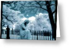 She Dreams In Blue Greeting Card by Gothicolors Donna Snyder