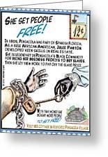 She Set People Free Greeting Card by Warren Clark