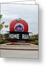 Shea Stadium Home Run Apple Greeting Card by Rob Hans