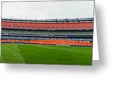 Shea Stadium Pano Greeting Card by Dennis Clark