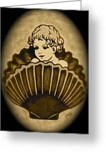 Shell With Child 2 Greeting Card by Georgeta  Blanaru