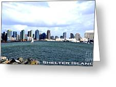 Shelter Island Ca View Greeting Card by RJ Aguilar