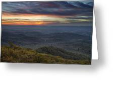 Shenandoah sunset Greeting Card by Pierre Leclerc Photography