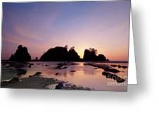 Shi Shi Beach Greeting Card by Keith Kapple