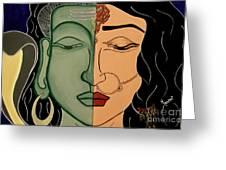 Shiv-shakti Greeting Card by Meenakshi Malhotra