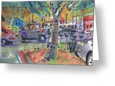 Shopping Carts Greeting Card by Donald Maier