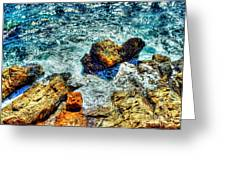 Shores Of The Aegean Greeting Card by Michael Garyet