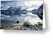 Shuksan In Fog Greeting Card by Idaho Scenic Images Linda Lantzy