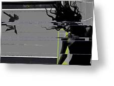 Shuttered Glass Greeting Card by Naxart Studio