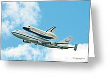 Shuttle Enterprise Comes To Ny Greeting Card by Regina Geoghan