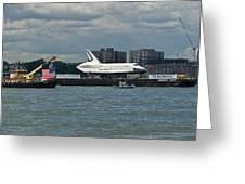 Shuttle Enterprise Flag Escort Greeting Card by Gary Eason
