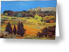 Sicily Landscape Greeting Card by Judith Barath