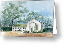 Sicklerville 1859 Church  Greeting Card by Nancy Patterson