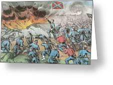 Siege And Capture Of Vicksburg, 1863 Greeting Card by Photo Researchers