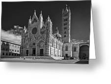 Siena Duomo Greeting Card by Michael Avory