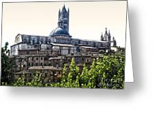 Siena Italy - Siena Cathedral -02 Greeting Card by Gregory Dyer
