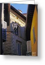 Siena Street Greeting Card by Gordon Wood