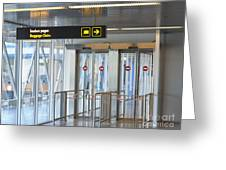 Sign Leading To Baggage Claim Greeting Card by Jaak Nilson