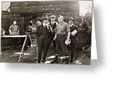 SILENT FILM SET, c1925 Greeting Card by Granger