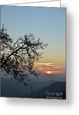 Silhouette At Sunset Greeting Card by Bruno Santoro
