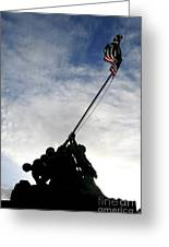 Silhouette Of The Iwo Jima Statue Greeting Card by Michael Wood