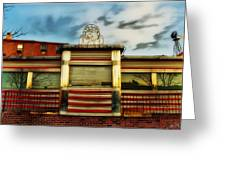 Silk City Lounge Greeting Card by Bill Cannon