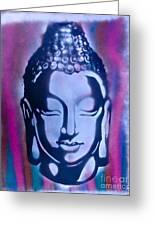 Silver Buddha Greeting Card by Tony B Conscious
