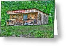 Silver River Trading Post Greeting Card by Myrna Bradshaw