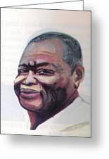 Simon Kimbangu Greeting Card by Emmanuel Baliyanga