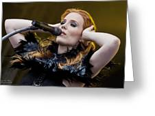 Simone Simmons Epica Greeting Card by Natalia Kempin