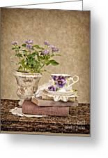 Simple Pleasures Greeting Card by Cheryl Davis