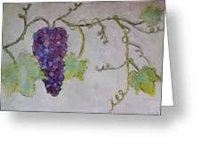 Simply Grape Greeting Card by Heidi Smith